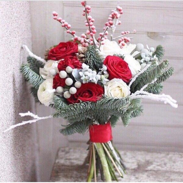 Букет невесты №4, бруния, букет невесты, кустовая роза, нобилис, пионовидная роза, роза,