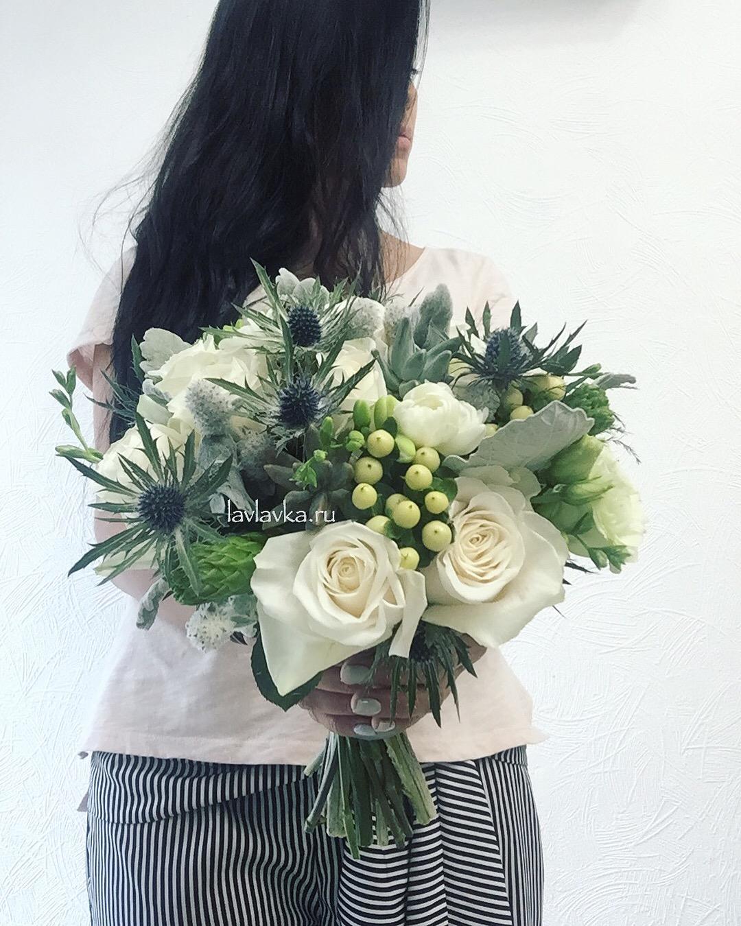 Бело синий букет невесты фото — photo 7