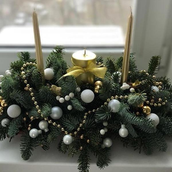 Новогодняя композиция №7, нобилис, новогоднее украшение, новогодние композиции, новогодний букет, новогодний декор для дома, новогодний декор для офиса, новогодний подсвечник, новогодняя композиция на стол, рождественская композиция, свеча, топпер, шишки,