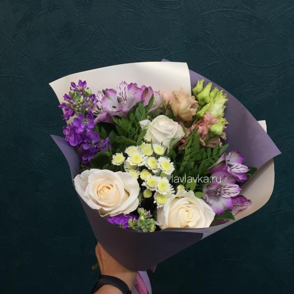 Букет №110, букет для учителя, букет на 1 сентября, цветы в школу, цветы на 1 сентября,
