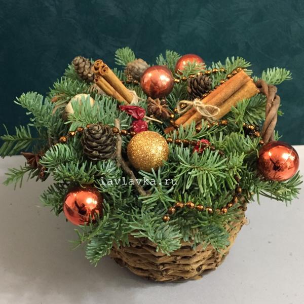 Новогодняя композиция №50, композиция, композиция с елью, новогоднее украшение, новогодние композиции, новогодние подарки, новогодний букет, новогодний подарок, новогодняя композиция, рождественская композиция,