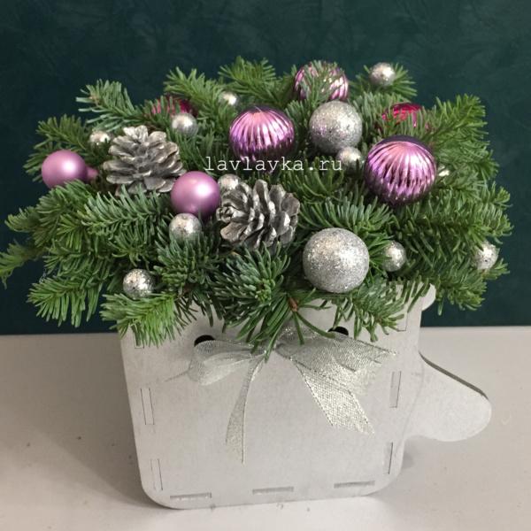 Новогодняя композиция №51, зимний букет, зимняя композиция, композиция с елью, новогодние композиции, новогодний букет, новогодний подарок, новогодняя композиция, рождественская композиция,