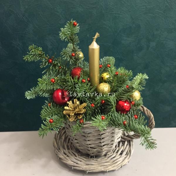 Новогодняя композиция №62, зимняя композиция, композиция, новогодний декор, новогодний подсвечник, новогодняякомпозиция новогодний букет,