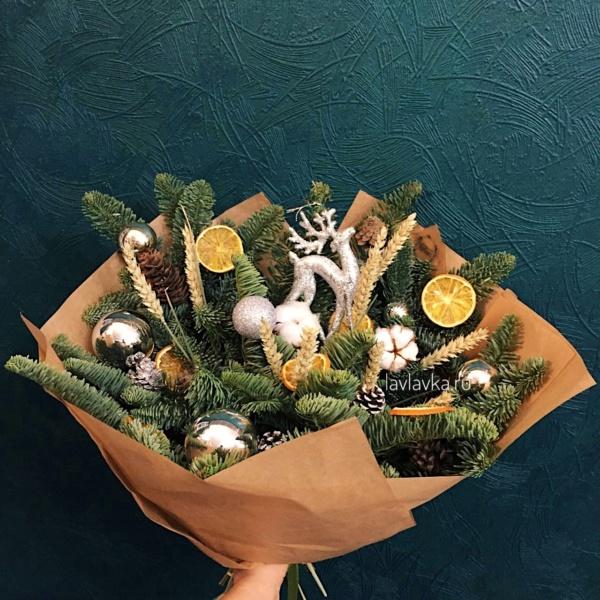 Новогодняя композиция №79, купить новогодний подарок, новогдняя композиция, новогоднее оформление, новогодние венки, новогодний букет, новогодний венок, новогодний декор,