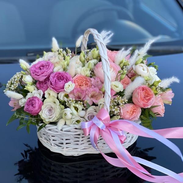 Цветочная композиция №31, букет в корзине, композиция из цветов, цветочная композиция, цветочная композиция в корзине, цветочная корзина, цветы в корзине, цветы в корзинке,