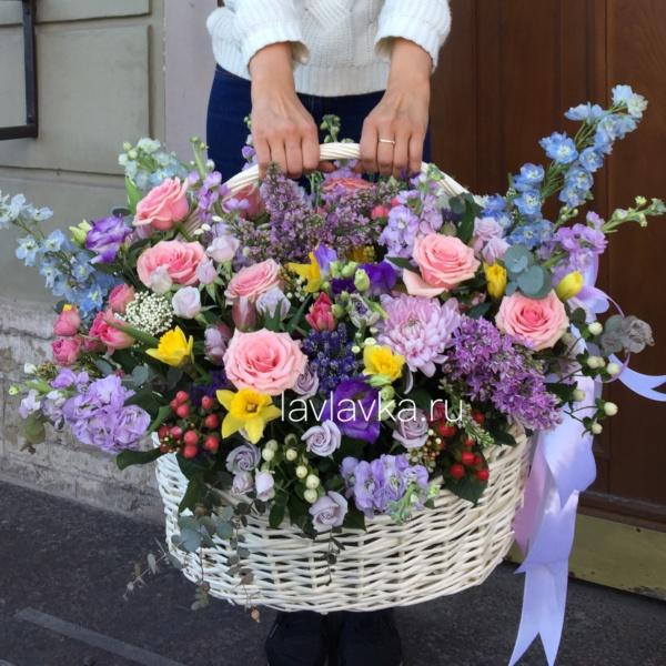 Цветочная композиция №34, большая корзина цветов, букет в корзине, корзина с цветами, цветочная композиция, цветочная композиция в корзине, цветы в корзине,